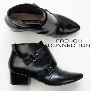 French Connection Roree 2 Buckled Ankle Boots 8